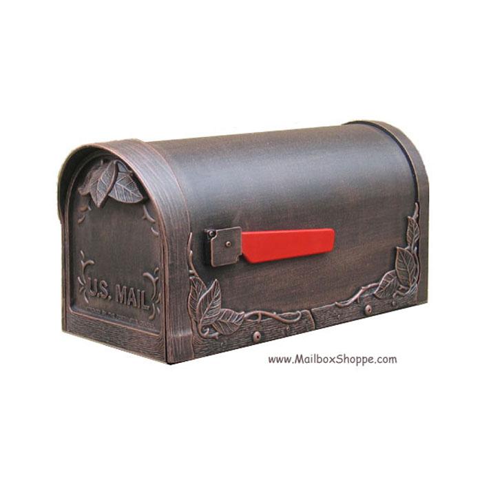 Floral Leaf Cast Mailbox