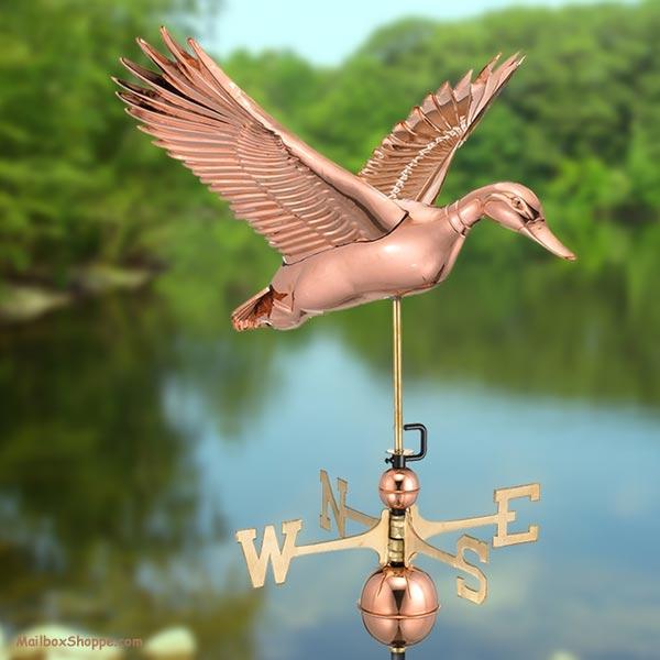 9613p Flying Duck Weathervane Mailbox Shoppe